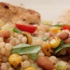 Pan-Seared Turkey Cutlets with Pearl Couscous and Black-Eyed Peas
