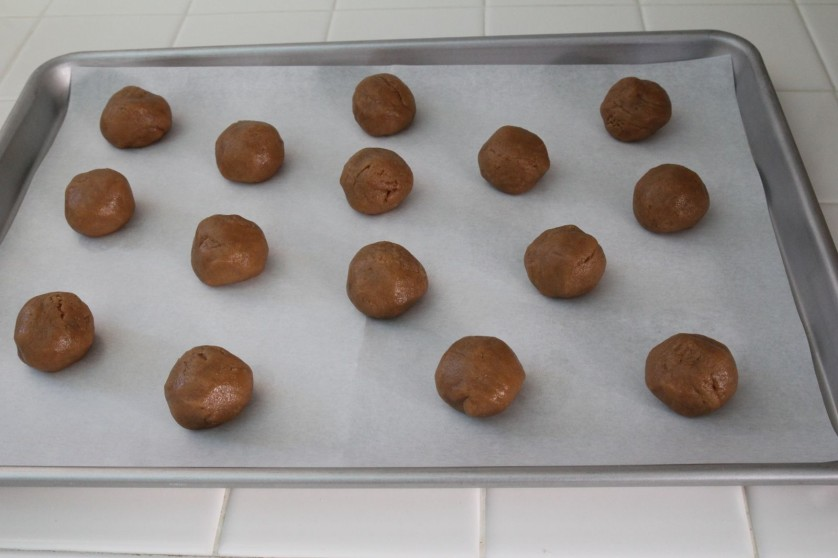Place balls on cookie sheet